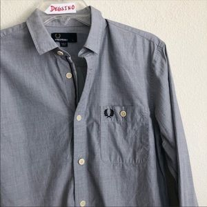 Fred Perry Button Down Long Sleeve pocket shirt
